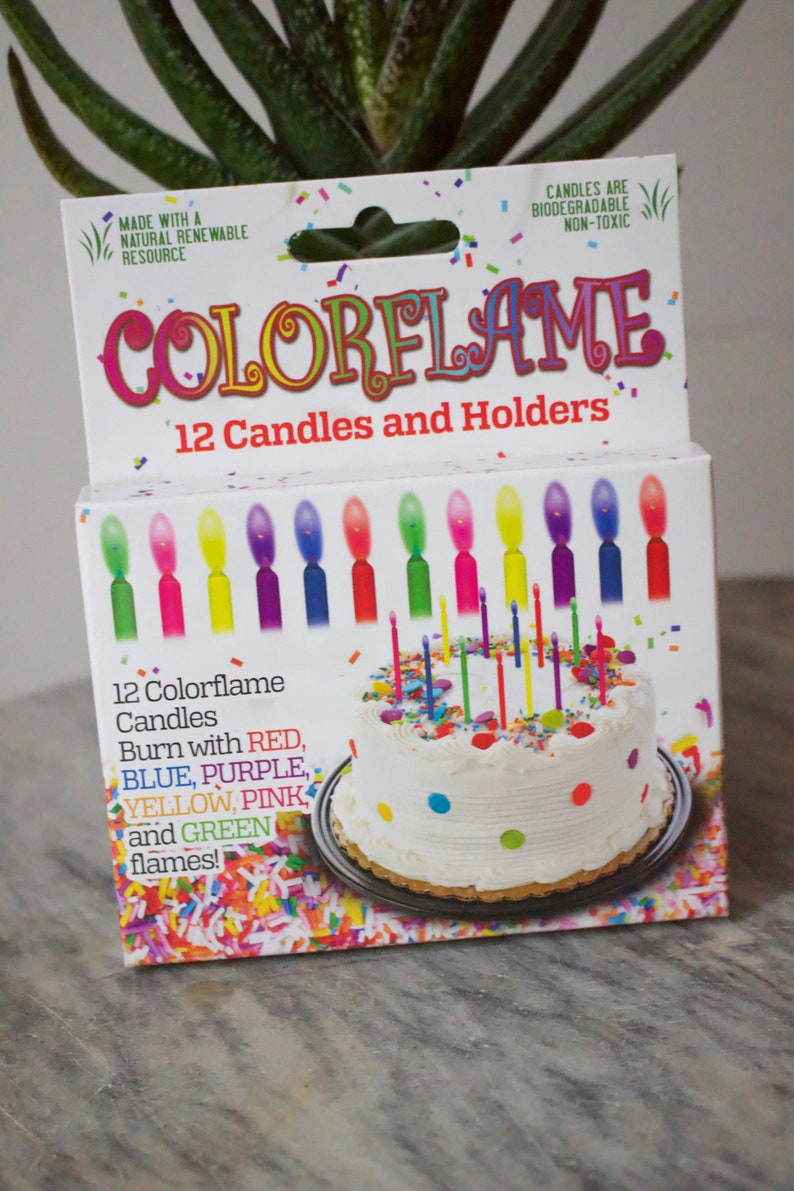 Color Drip Celebrating Candles