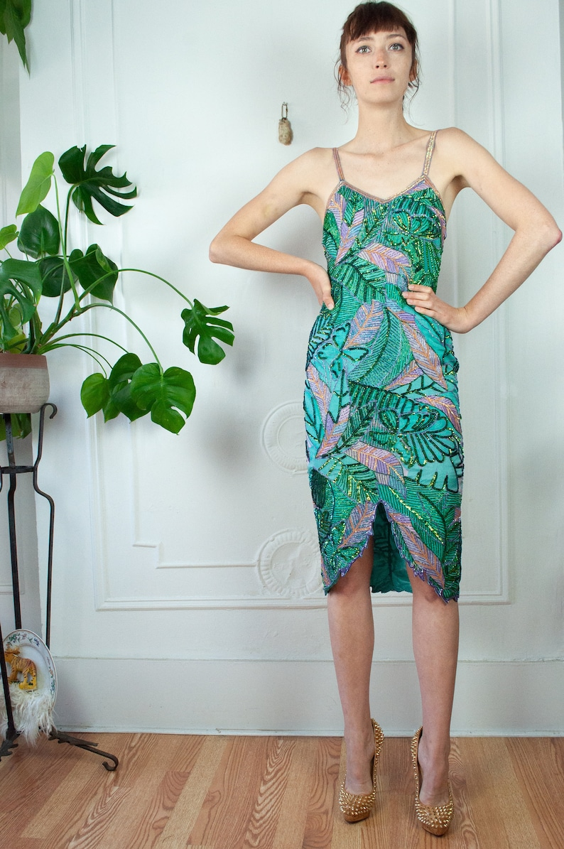 Tropical Bombshell Beaded Dress