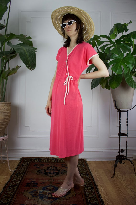 Pink Terry Cloth Dress