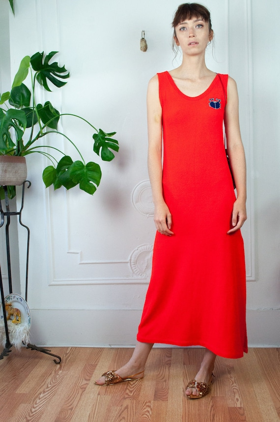 Terry Cloth Red Crab Maxi