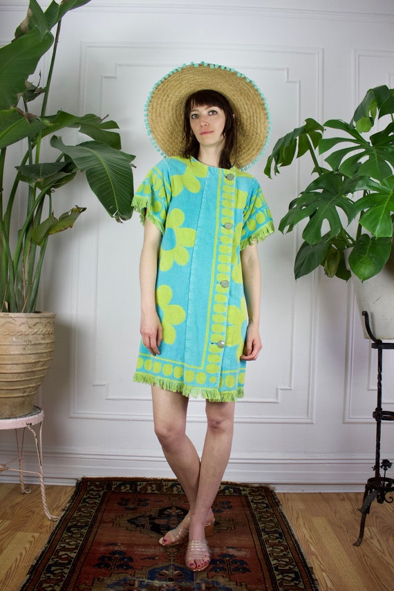60s Terry Cloth Shift Dress