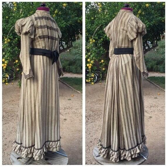 3-Piece Victorian bustle dress skirt with boned sh