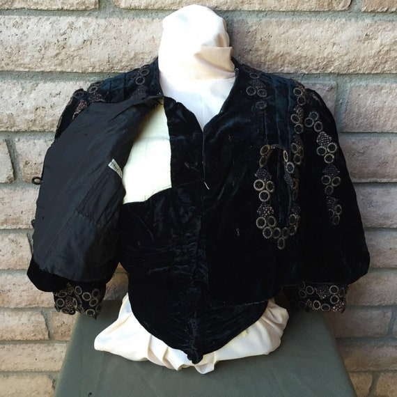 Antique 1890s Victorian Shirt Bodice. Very Dark Mi
