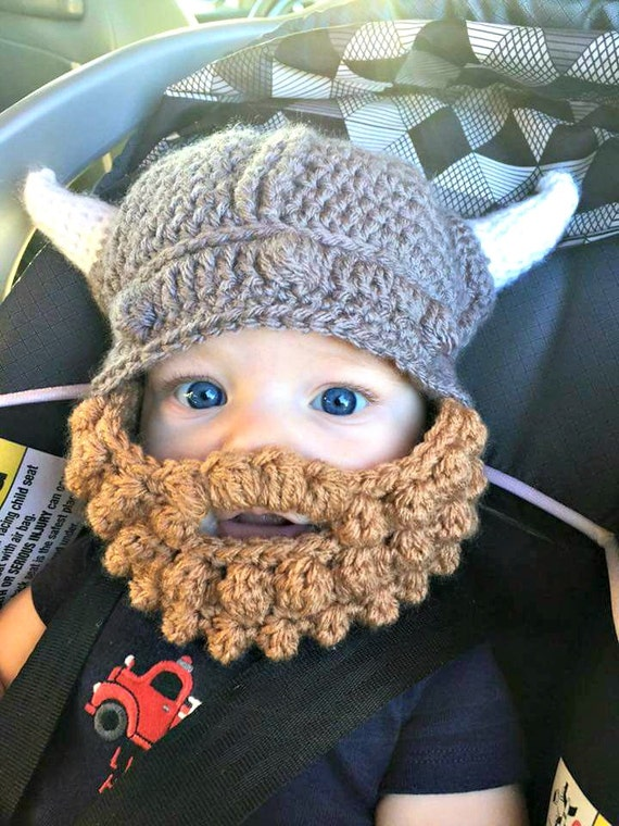 Vikings Hat With Beard Mens Viking Hat Boys Viking Hat Etsy