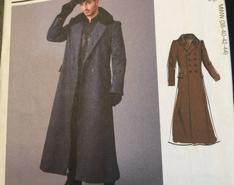 Simplicity 2517 Mens Sherlock Holmes Costume Pattern Coat and Hat Victorian Ulster Steampunk Sewing Chest 38 40 42 44  Or 46 48 50 52