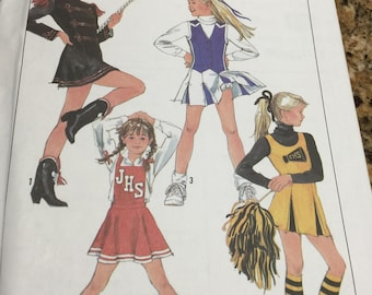 6b08ffe7e2e3 NEW 1980's 5.6 teen Simplicity 8782 Jr. Teens cheerleader and Majorette  outfits sewing pattern