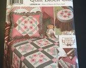 NEW UNCUT Simplicity 9312 sewing pattern Quilt Block Club Lesson 4 Rose of Sharon and Churn Dash sham quilt bed caddy foot stool cover