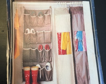 Vintage Chintz HANGING WARDROBE SHOE GARMENT ORGANISER STORAGE CLOTHES TIDY