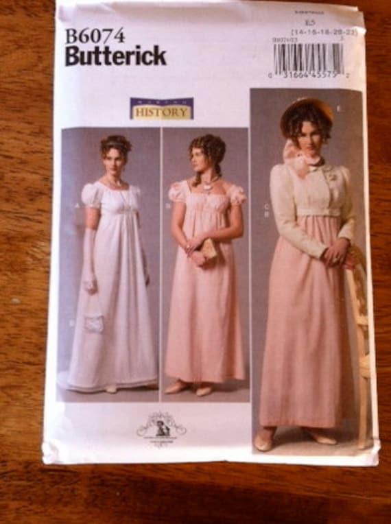 Butterick B6074 Making History Sewing Pattern NEW Regency