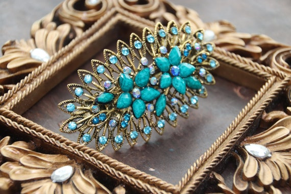Victorian Hairpin , Turquoise Vintage Hair Pin , f