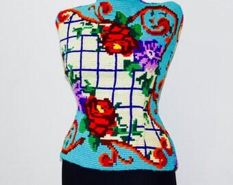 Dress form , Shop Window Display ,France Vintage old display ,Mannequin , Display in Needlepoint Art Sewing , Craft Dress Form