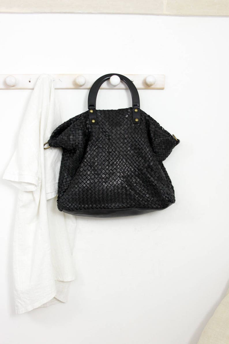 c0fce3eafe Handmade woven leather bag INTRECCIATO 107