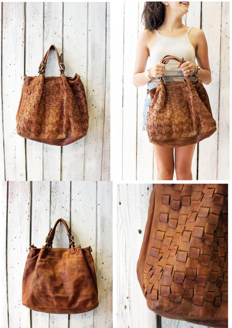 11a7820c77 Handmade woven leather bag INTRECCIATO 79