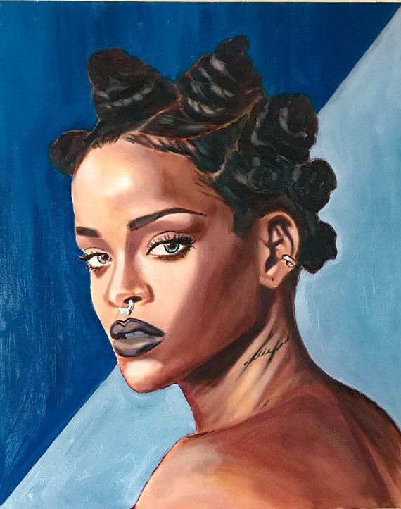 Rihanna Painting Wall Art Original Paintings African American Art Oil Paintings Black Art African Art Contemporary Art