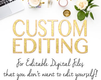 PERSONALIZATION - Custom Editing for your already purchased Digital File - 24-48 hr turn around - Printable File
