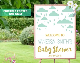 Welcome Sign - Baby Shower Welcome Sign - Party Welcome Sign - Birthday Sign - Printable - DIGITAL FILE