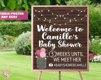 Rustic Baby Shower Welcome Sign - Baby Shower decoration - Welcome sign - Baby Shower Brunch Sign - Baby Showerl Tea Sign - PRINTABLE