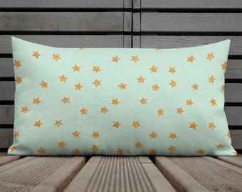Mint Celebrate Print Premium Pillow Case w/ stuffing - Mint throw pillow - Mint decorative Pillow - Home Decor Pillow - Girl Bedroom Decor