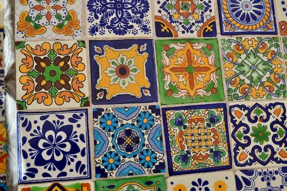Talavera fatto a mano piastrelle di ceramica messicana