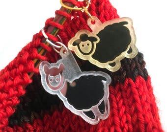 Alpaca/Sheep Mirrored Stitch Markers (Set of 6)