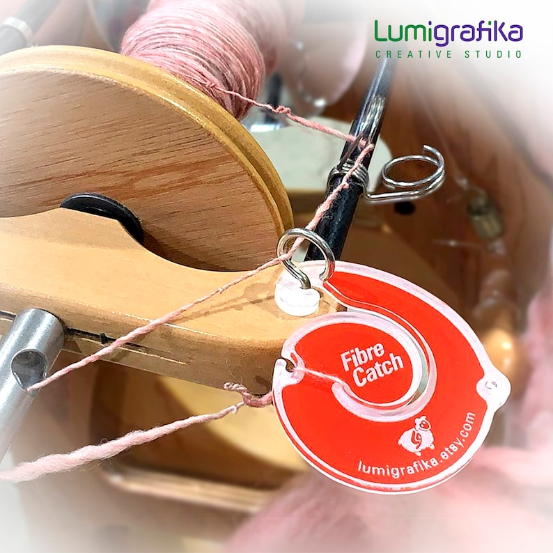 Fibre Catch  Keep Unspun Fibre Secure on the Spinning Wheel image 0