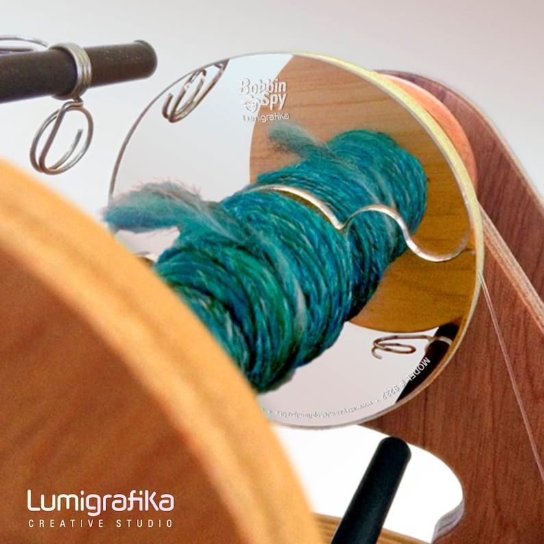 Bobbin Spy  Mirror panel for your spinning wheel image 0