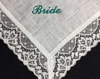 Bride Turquoise - CATHEDRAL IRISH LINEN Lace