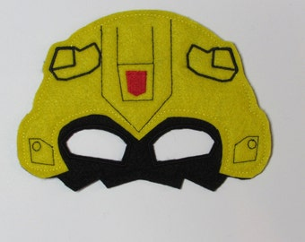 Halloween Mask Machine Embroidery Design Bumblebee Inspired In The Hoop 244