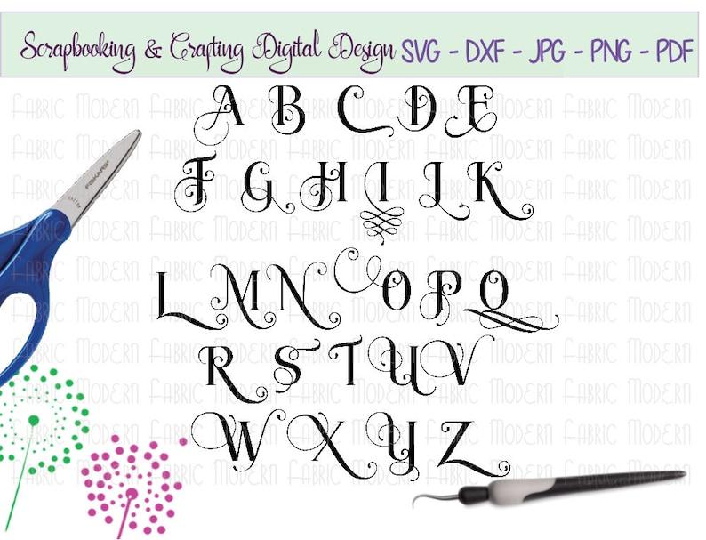 svg lettertype alfabet fancy sierletter alternatieven script | etsy