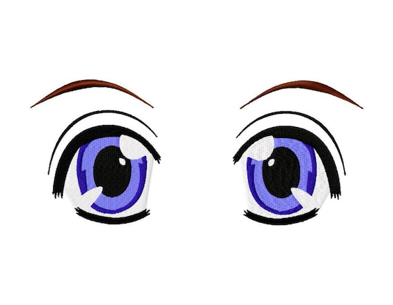 Machine Embroidery Design Anime Eyes For Dolls Or Plushies Etsy