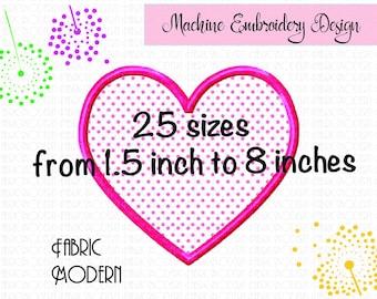Heart Applique Embroidery Design  Heart embroidery design  Embroidery Valentine heart  Applique design heart  Love applique  25 sizes  #927