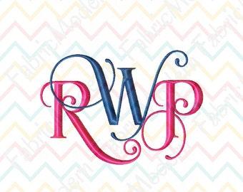 INTERLOCKING MONOGRAM font modern Embroidery Design monogram fonts embroidery font BX  alphabet  #508