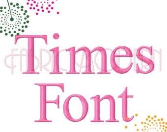 TIMES Embroidery FONT Design small embroidery fonts font alphabet letters 1/2 inch to 1.5 inches machine embroidery bx pes monogram #598