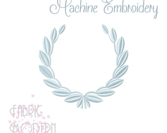 Modern French Laurel Embroidery Design #1076-0