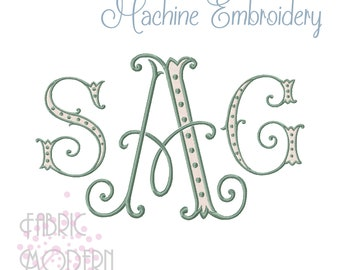 Arabian Nights two color Monogram Machine Embroidery Font Alphabet Letters #1012