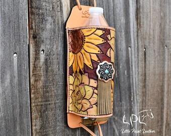 Tournesol avec outils Crème buckstitched Western en cuir femme Spur Straps