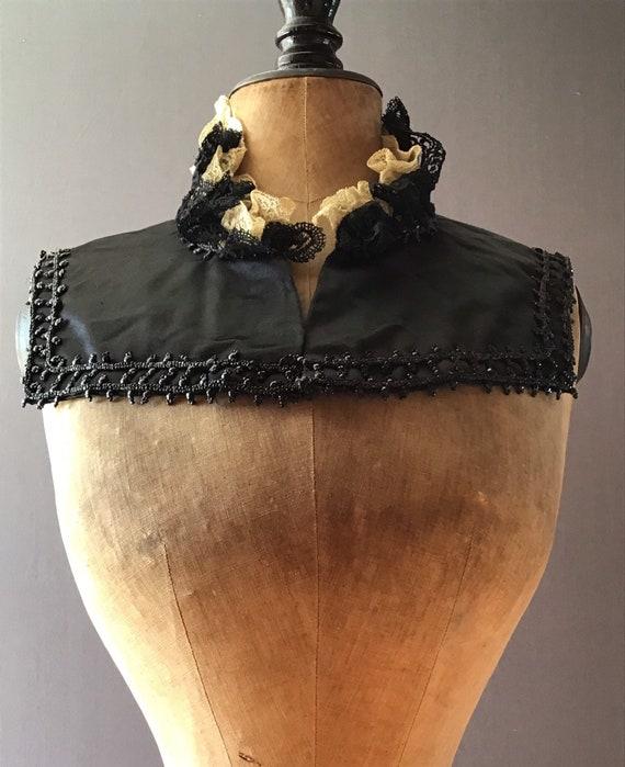 Antique Victorian silk shoulder cape