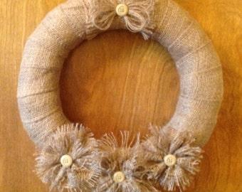 14inch decorated burlap wreath
