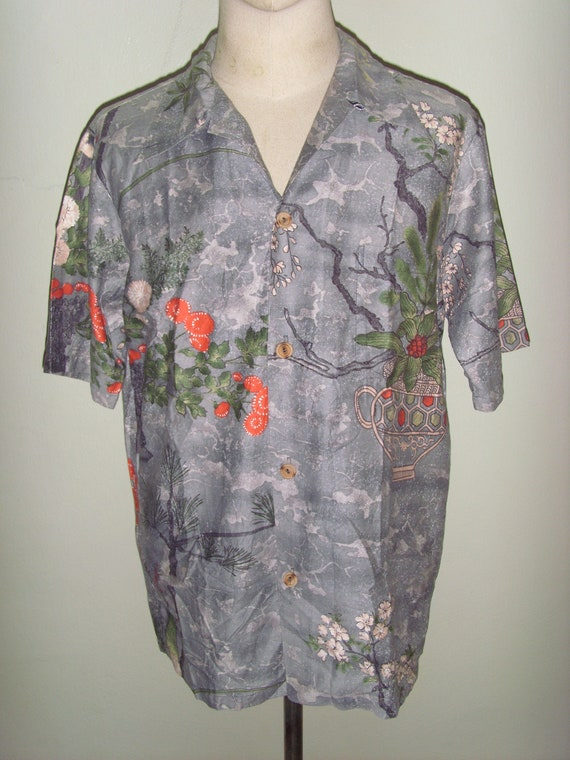 6ccaeecc Rare 60's Andrade Hawaiian Polyester / Cotton Shirt Main | Etsy
