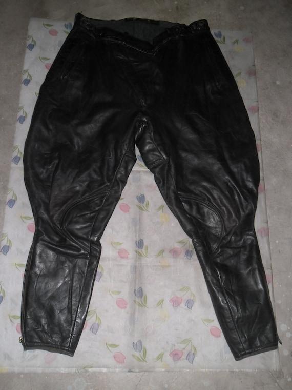 Late 40's Pants Breeches , Dark Green Motorcyclist