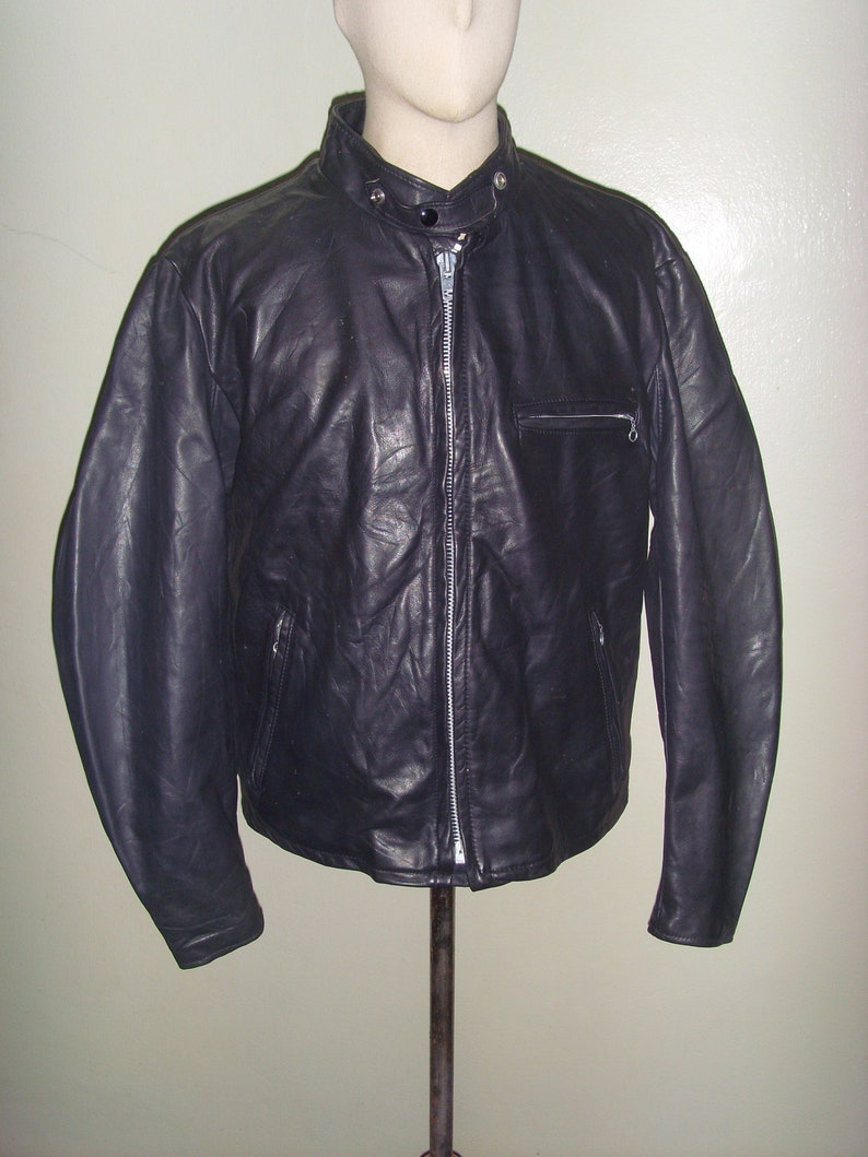 938a502ca68 SCHOTT NYC Black 641 Single Rider Leather Motorcycle