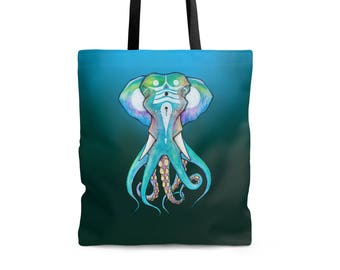 TOTE BAG 'Octophant' polyester shoulder bag