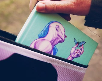 NOTEBOOK 'Flutter by' hardcover blank journal