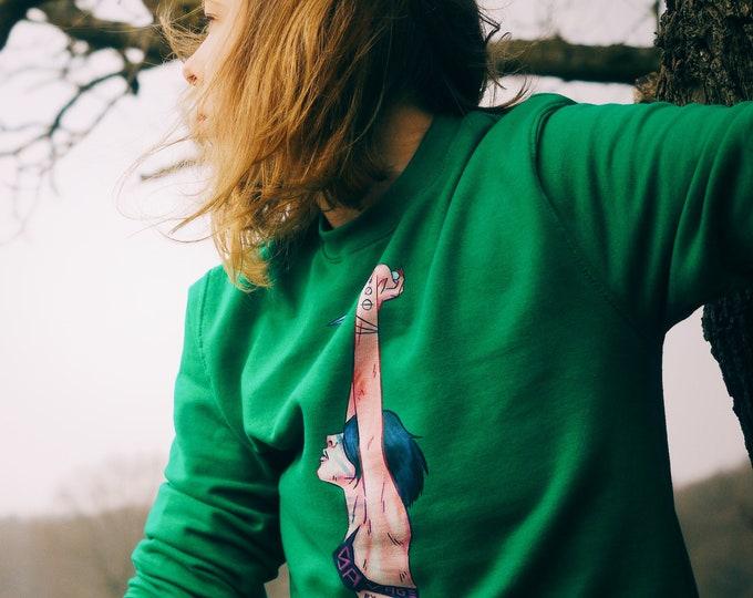 Featured listing image: SWEATER 'Savage By Nature' unisex crewneck sweatshirt