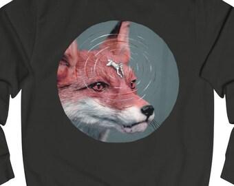 SWEATER 'Foxy Rider' crewneck unisex sweatshirt