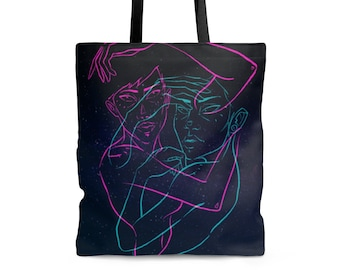 TOTE BAG 'Double Trouble' polyester shoulder bag