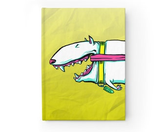 NOTEBOOK 'Byte the Bullet' blank hardcover journal