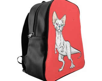 BACKPACK 'Devonnosaurus Rex' red