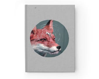 NOTEBOOK 'Foxy Rider' blank hardcover journal