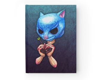 NOTEBOOK 'The Purrrge' blank hardcover journal